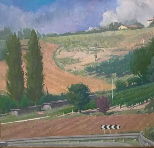Langdon Quin, <em>Curva II</em>,-o-c, 43x45cm,2016