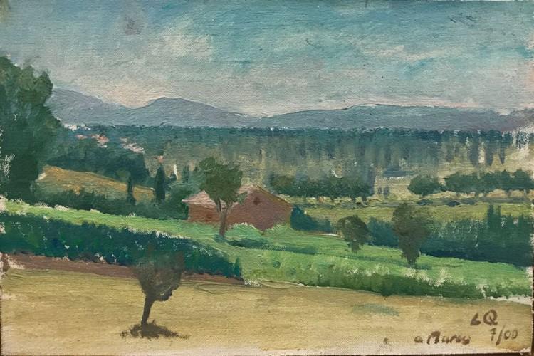 Langdon Quin, <em>Pioppi, Pian' di Gubbio</em>, 19.5x29.5cm, 2000