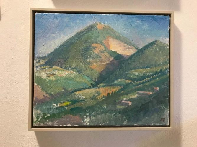 Langdon Quin, study for <em>Mte Acuto</em>, oc-38x46c-2006