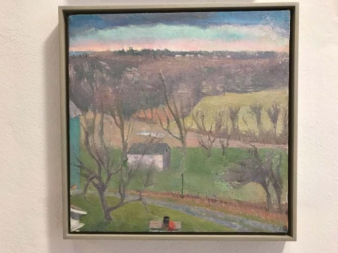 Langdon Quin, study for <em>Towards Pinewoods'</em>, oc, 45x46cm, 2008