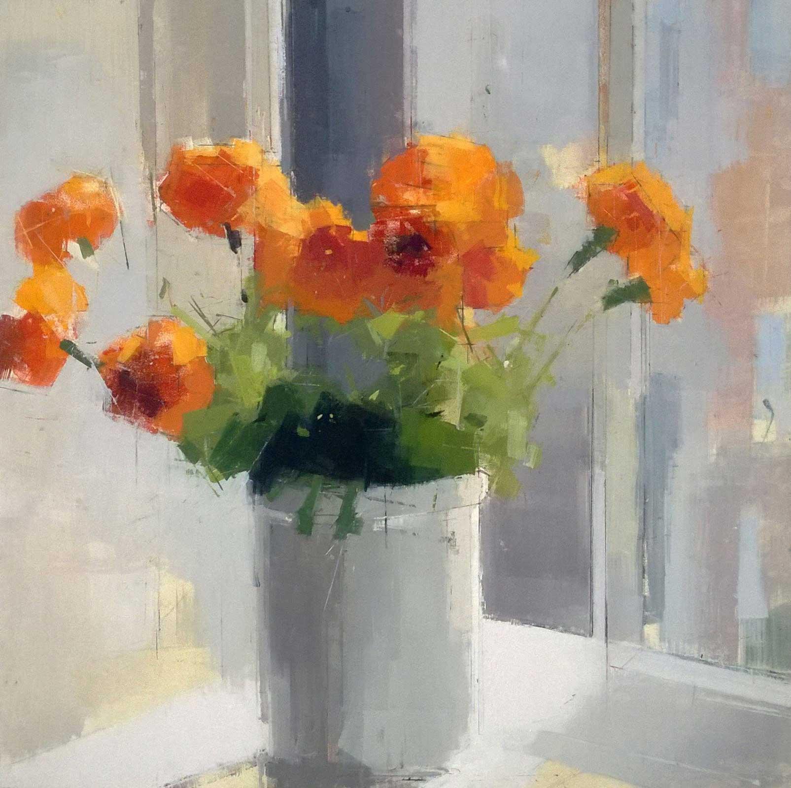 Lisa Breslow, <em>Orange Flowers</em>