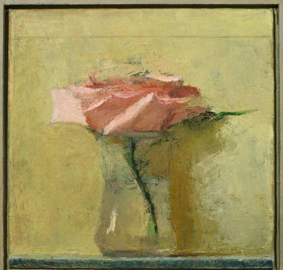 "Scott Smith, <em>Untitled Still Life with Flowers</em>, 12x12"" oil on canvas"