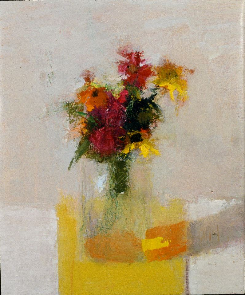 "Scott Smith, <em>Untitled Still Life with Flowers</em>, 11x14"" oil on canvas"