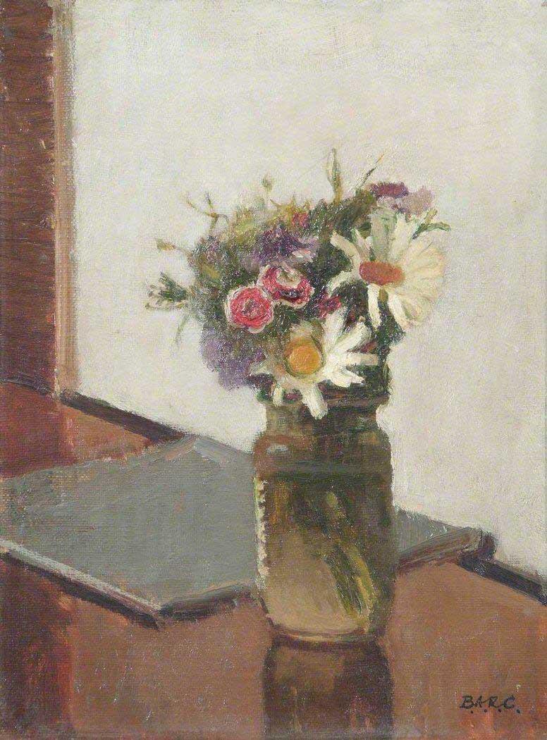 Bernard Arthur Ruston (Sam) Carter; Flowers; Royal Academy of Arts; 1966; oil on canvas; 32.1 x 24.4 cm