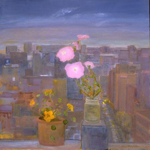 Jane Freilicher, My Cubism, 2004. Oil on linen, 25 x 25 inches