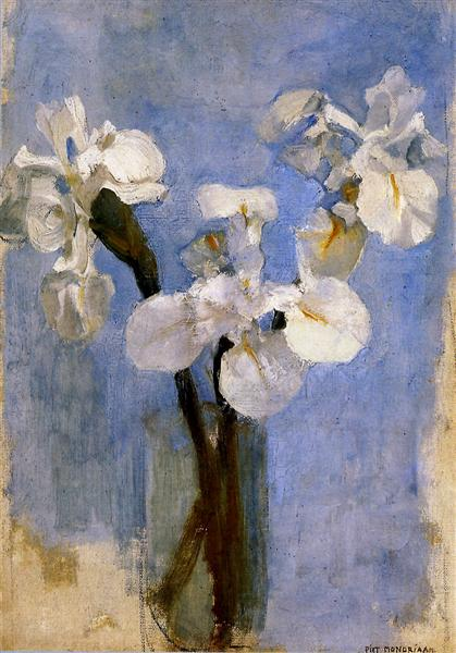 Piet Mondrian -Irises