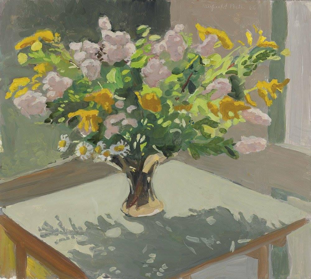 fairfield Porter flowers on a table