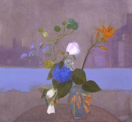 Jane Freilicher, Flowers on Blue (2003)