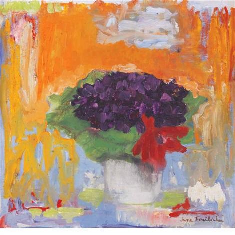 Jane Freilicher, still life with flowers