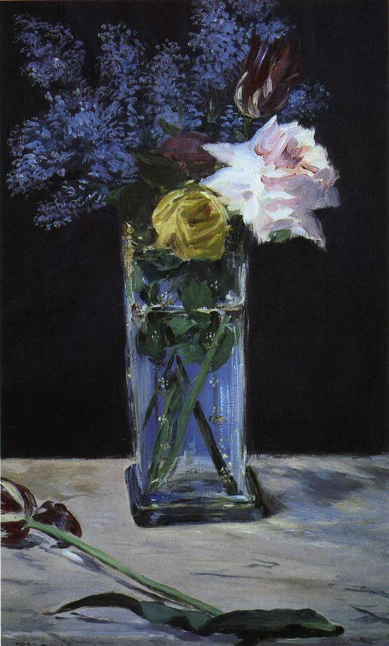 Edouard Manet Rose, Liliac, Tulip
