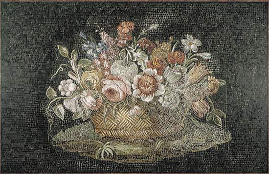 asket of Flowers Roman mosaic 2nd century