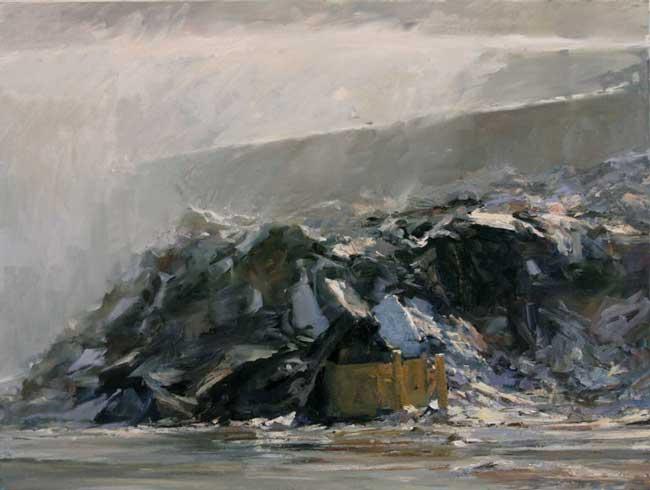 Michael Kareken's Scrap Paper Pile and Water Cannon