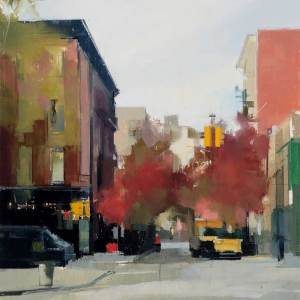 Perry Street, 2014 Oil and pencil on panel, 30 x 30 in.