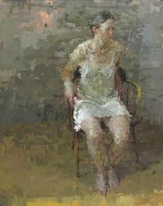 Rachel, 2007  Oil on canvas 58 x 46 inches