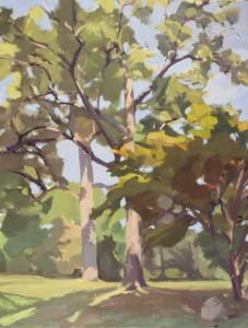 18-Mount+Auburn,+Eglantine+Path,+27x22,+oil+on+canvas,+2005