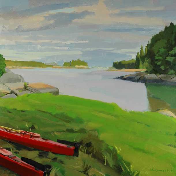 Towards Little Thrumcap Deer Isle, 30x30 2011