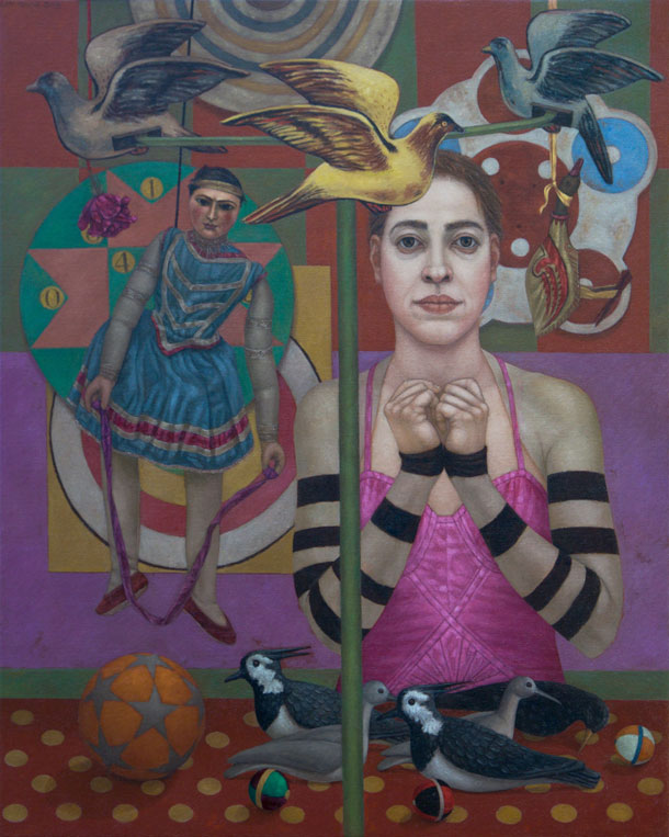 Lani Irwin, Gli Uccelli, 2015, 100 x 80 cm, oil on linen