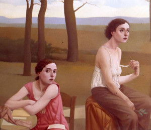 What Thoughts Do They Hide, 2010-11, 39 3/8 X 47 1/4 in. oil on linen