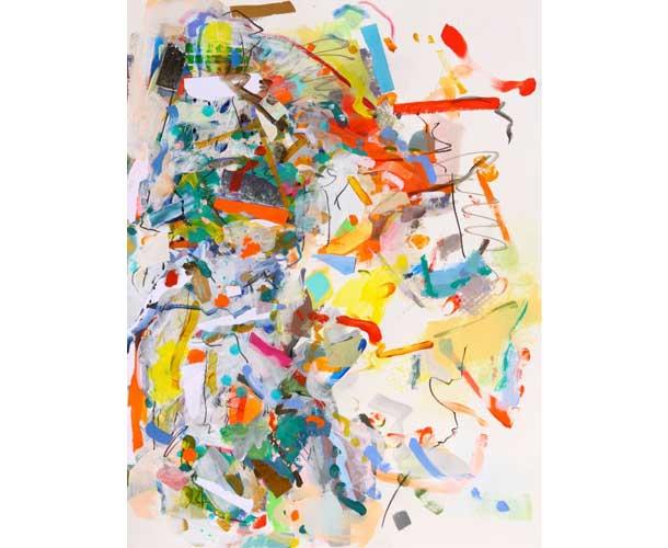 Twisted, 2015 30 x 22 acrylic and mixed media