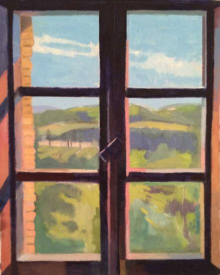 """Towards Monte Tezio, 2015, 19x15.5"""", oil on canvas"""