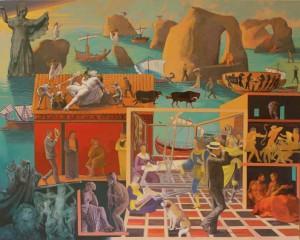"""Ulysses, 2008, 40x50"""", mixed media"""