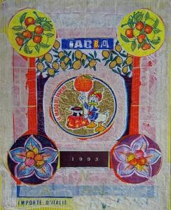 Babbo ti Amiamo, 1993 mixed media collage