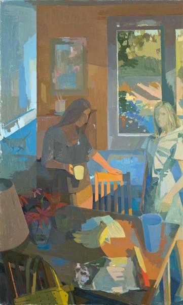 Sisters, 66x45 o/c 2014