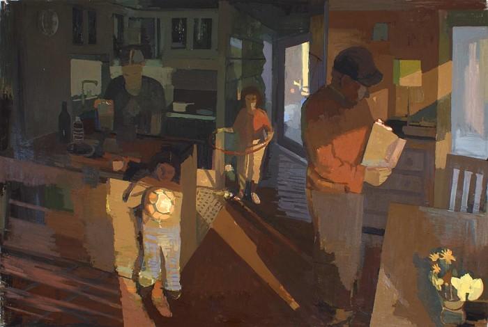 Family at Sundown, 56x72 O/C 2003