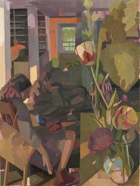Large Tulip Interior, 45x60 in o/c s2013