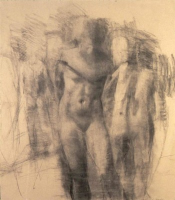 Drawing, 40 x 48 in. charcoal/paper