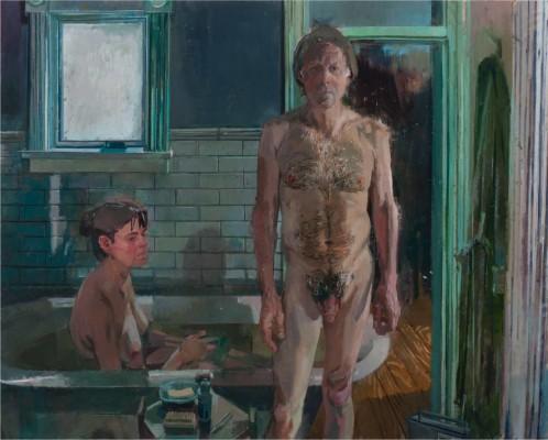 Bathers, 72 x 58 in. oil/linen