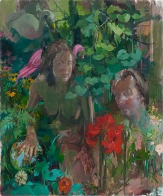 Garden, 48 x 58 in. oil/linen