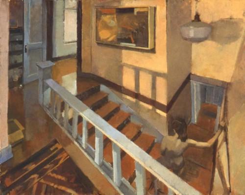 Stairwell, 60 x 48 in. oil/linen