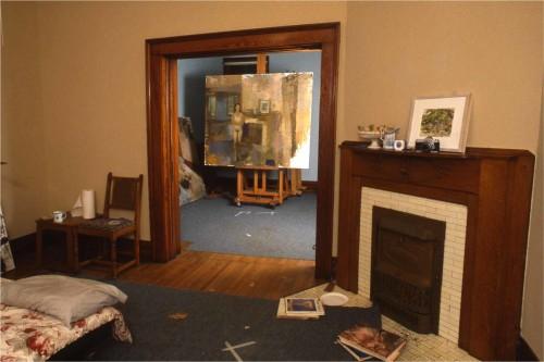 Photo of interior of studio house