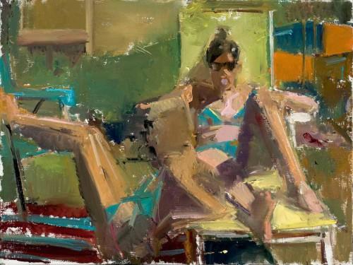 Girls in Bikinis 16 x12 in. oil/muslin on panel