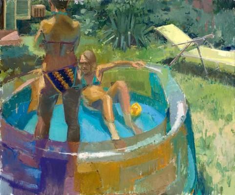 Kiddy Pool, 48 x 40 in. oil/linen on panel