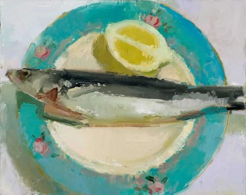 Fish, 11 x 14 in. oil/muslin on panel