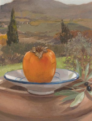 Persimmon 8 x 6 inches oil on paper 2015