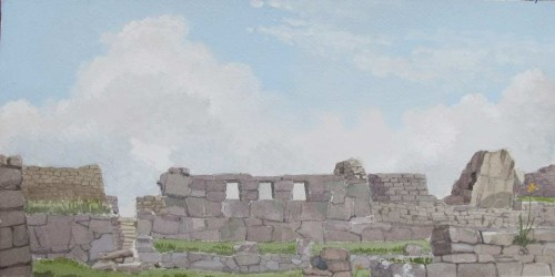 Peru, Temple of the Three Windows Facing East 2005