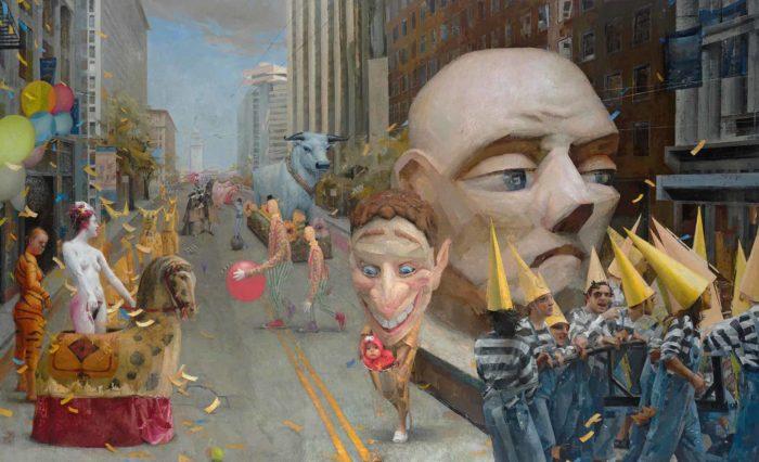 "Parade, 2015 Oil on linen, 78"" x 126"""