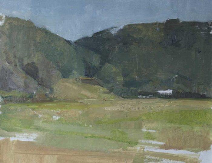 "Field Study. Oil on panel, 16 x 24"" 2016"