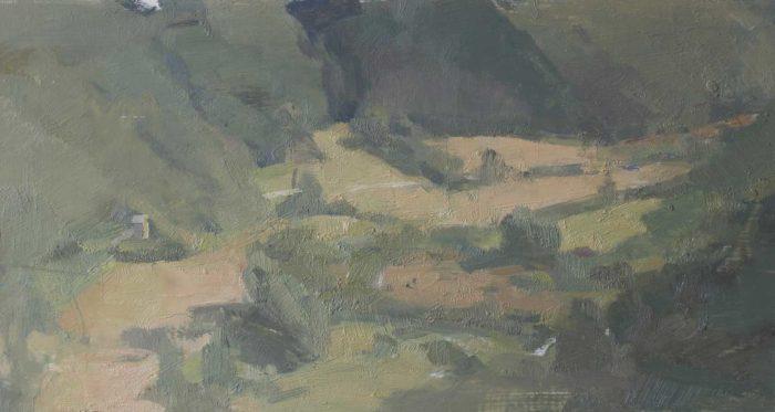 "Valley From Civita, 8 x 16"" 2016"