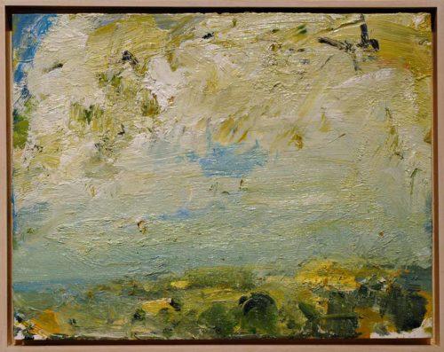 "Montecastello Sky #1 2005, oil/linen, 14x18"""
