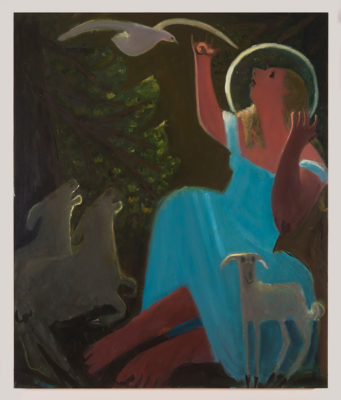 Annunciation 2 (2016), oil on canvas, 50 x 42 in.